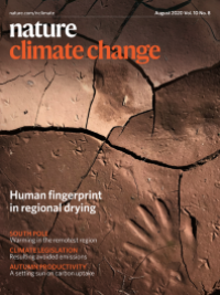 Nature Climate Change journal cover