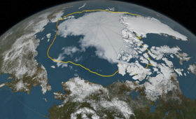 Arctic from space photo