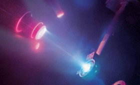 Laser-driven shock compression experiment