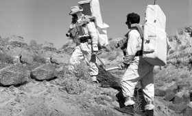 Astronauts at the Nevada Test Site