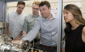 Scientists examine portable diagnostic machine capable of probing inside metal parts