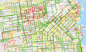 Map of San Francisco electricity grid