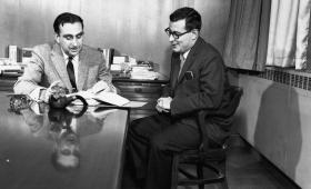 Harold Brown (right) and Edward Teller