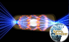 Artist's conception of hohlraum during fusion experiment