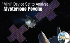 Satelite orbiting asteroid Psyche