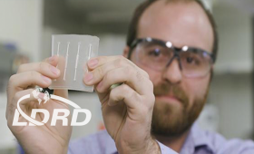 Scientist holds chip-based platform