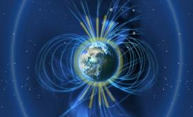 an image of the Earth and its magnetic fields